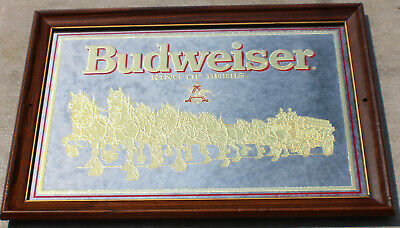 $ CDN114.44 • Buy Vintage Budweiser King Of Beers Clydesdale Bar Mirror Vintage C.1989