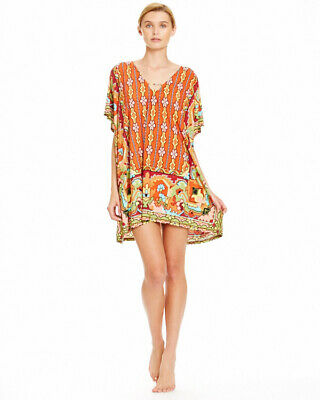 AU60 • Buy Tigerlily BNWT S M 10 12 Playa Mu Mu Tunic Kaftan Top Dress Brand New $149.95