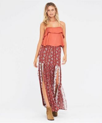 AU60 • Buy Tigerlily BNWT 6 Manipura Sunflower Floral Boho Maxi Skirt Brand New RRP $190