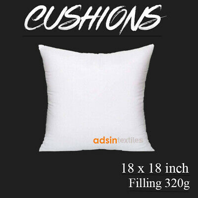 Cushion Pads 18x18 Virgin Hollowfiber Pumped Fillers Inner Cushions Inserts New • 1.98£
