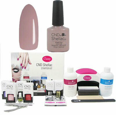 £119.95 • Buy CND Shellac Field Fox Deluxe Nail Kit Choice Of Lamp UV LED 48W/48W PRO FREE P&P