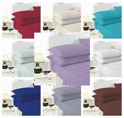 £6.79 • Buy Easy Iron Percale Polycotton Fitted Bed Sheet 100% Poly Cotton S / 4FT / K / SK