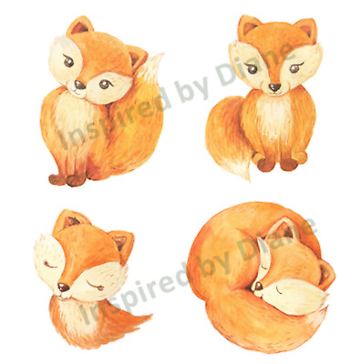 Transparent Self-adhesive Wall Sticker From Painted ,Fox ,children's Nursery 071 • 7.99£