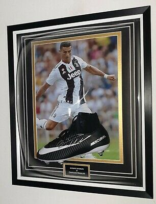 New Cristiano Ronaldo Of Juventus Signed Boot Autographed Dome Display • 395£