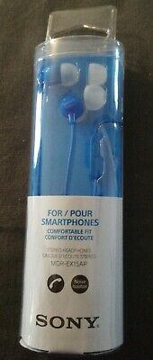 Sony EX15AP In-Ear Stereo Headphones With Mic And Control - Blue • 4£