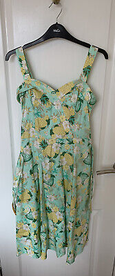 Green Pineapple Dress 1950s Style Size 12/M • 16£