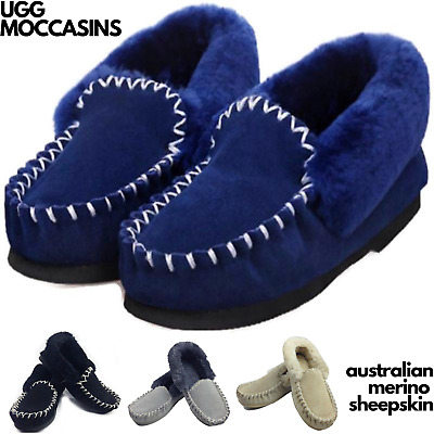 AU49 • Buy 100% Australian Merino Sheepskin Moccasins Slippers Winter Casual Slip On UGG