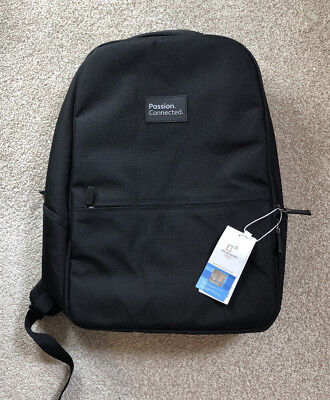 NWT Hologram 2018 Pyeongchang Winter Olympics Official Black Rucksack Backpack • 17£