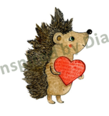 Transparent Sticker From Painted, Hedgehog Heart Nursery, Children's, Decal 081 • 4.99£