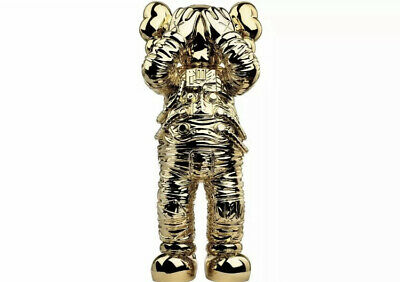 $2000 • Buy KAWS Holiday Space Chrome Gold PRE ORDER Ships September RARE Limited Bearbrick