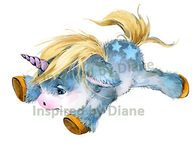 Transparent Wall Sticker From Painted, Cute Unicorn, Kids, Nursery, Decal, 044 • 7.99£