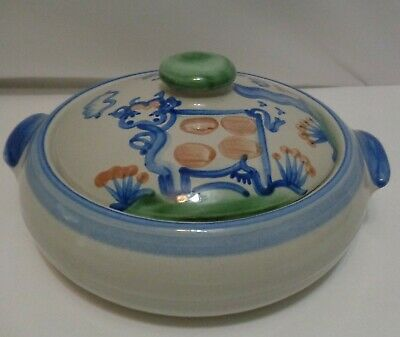 $39 • Buy MA Hadley Stoneware Cow Pig Farm Theme Covered Caserole Dish Lovely