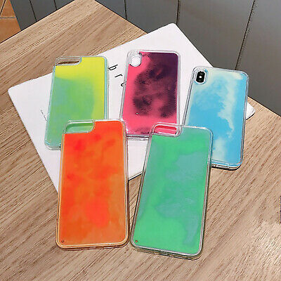 AU9.99 • Buy IPhone 11 Pro Max 6 7 8 Plus X Luminous Liquid Quicksand Dynamic Sand Case Cover