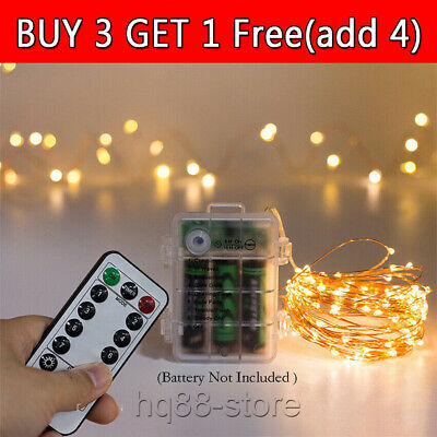 LED Battery Fairy String Lights Micro Outdoor Remote Control Wedding Xmas Party • 7.72£