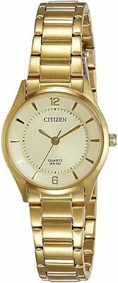 Citizen Quartz Ladies Dress Watch 50M ER0203-85P Gold Plated Steel UK Seller • 99.95£