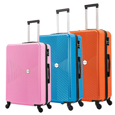 £27.99 • Buy Hard Shell PC+ABS Cabin Suitcase 4 Wheel Travel Luggage Trolley Lightweight Case