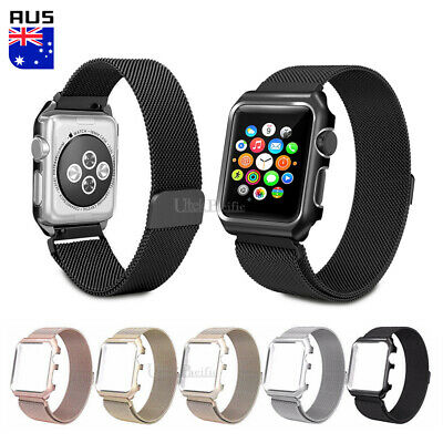 AU14.95 • Buy For Apple Watch Band Series 3 2 1 Milanese Stainless Steel Strap IWatch Band