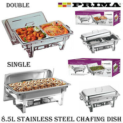 8.5l Chafing Dish Set Stainless Steel Party Catering Food Pan Buffet Warmer Fuel • 34.95£