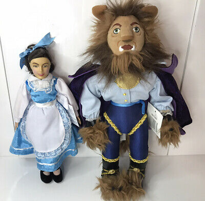 Disney Beauty & The Beast The Broadway Musical  Beast Belle Plush Soft Toy Doll • 19.99£