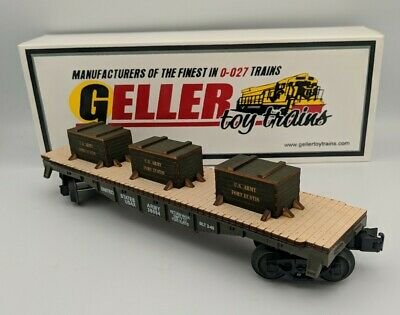 $139.99 • Buy Geller Toy Trains US Army Flat Car Fort Eustis O Scale 0-027 Guage RARE NEW