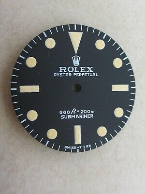 $ CDN221.05 • Buy ~ Vintage Rolex #5513 Submariner 660ft Matte Black Refinished Dial ~