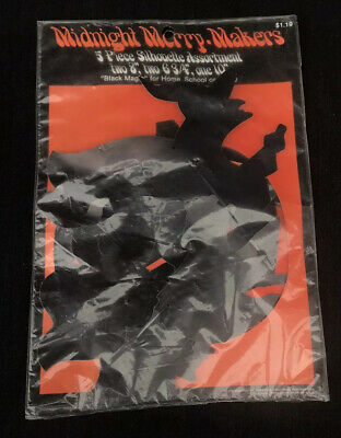 $ CDN48.21 • Buy NIP New Old Stock Halloween Decorations Silhouette Midnight Merry Makers Vintage