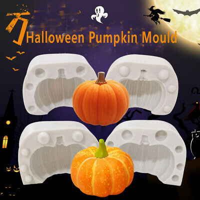 £4.99 • Buy Silicone 3D Halloween Pumpkin Cake Fondant Sugarcraft Mold Wax Soap Candle Mould