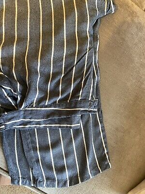 £5 • Buy Nearly New Striped Linen Trousers Size 18