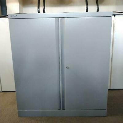 Bisley Metal Storage Cupboard, Mid Height, Lockable, Grey, H990mm X W900mm • 78£
