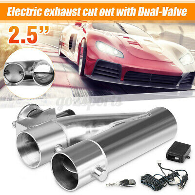 AU125.99 • Buy 2.5'' 63mm Dual Valve Exhaust E-Cut Out Y Pipe Electric Pipe Remote Kit Car Auto