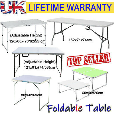 £25.87 • Buy Portable Adjustable Folding Table Step Up Stool Camping Outdoor Picnic Party BBQ