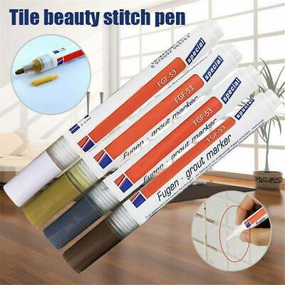 UK Professional White Grout Marker Pen Tool Wall Repair Anti Mold Instant Tile • 2.49£
