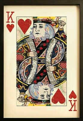 AU188.74 • Buy King Of Hearts Collage Wall Art 90x60cm