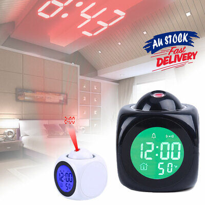 AU17.89 • Buy Smart  LED Projection Time  Clock Projector  Temperature  Alarm LCD Display