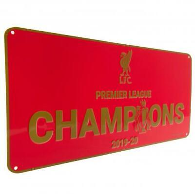 Liverpool FC Premier League Champions 2019/20 Metal Sign Official LFC Reds Gift • 8.29£