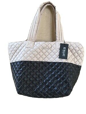 AU255.70 • Buy NWT MZ WALLACE Mushroom And Black Colorblock Medium Metro Quilted Tote  $225
