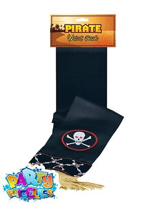 Deluxe Pirate Waist Sash Belt Buccaneer Shipmate Book Day Fancy Dress Accessory • 4.49£