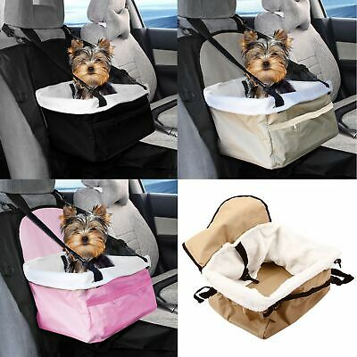 Travel Folding Dog Cat Pet Safety Belt Cover Puppy Booster Car Carrier Seat Bag • 9.95£