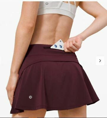 $ CDN99.99 • Buy Lululemon Nwt Play Off The Pleats Skirt Sz 6 Cassis Tennis Golf Run Travel Gym