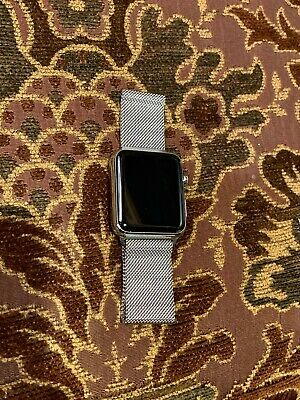 $ CDN249.81 • Buy Apple Watch Series 1 42mm Steel Case/Sapphire Crystal Magnetic SS Band PASS LOCK