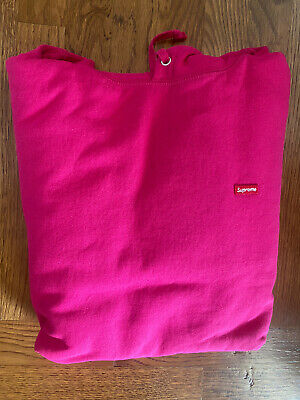$ CDN334.14 • Buy Brand NEW Supreme Small Box Logo Hoodie Hooded Sweatshirt L Large Fuschia