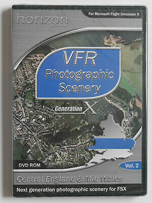 VFR Photographic Scenery Vol 2: Central England & Mid Wales For FSX (PC DVD)  • 29.99£