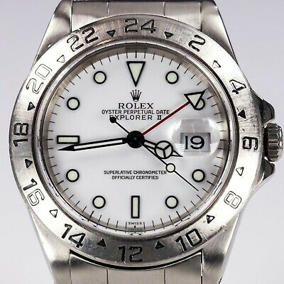$ CDN11052.71 • Buy Rolex Men's Stainless Steel Explorer II OPD Automatic Watch White Dial 16570