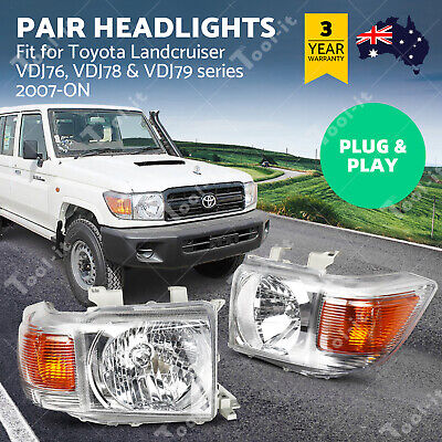 AU275 • Buy Pair Of Headlights For Toyota LandCruiser VDJ70 VDJ76 VDJ78 VDJ79 07-ON AU STOCK