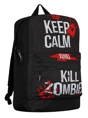 £19.99 • Buy Keep Calm And Kill Zombies Backpack With Laptop Slot New