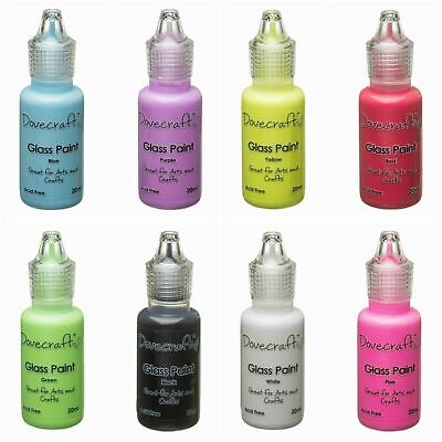 - 3 For 2 - Glass Paints By Dovecraft 20ml Bottles Craft Painting Art +++ • 11.77£