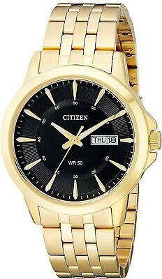 Citizen Quartz Mens Dress Watch WR 50M BF2013-56E Gold Plated Steel UK Seller • 99.95£