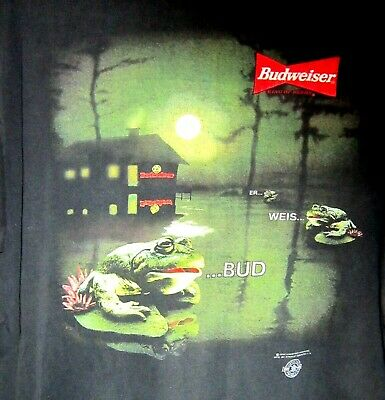 $ CDN20 • Buy Vintage 90's ~ Budweiser Beer ~ Frogs ~ 1995 ~ T Shirt ~ XL ~ PREOWNED