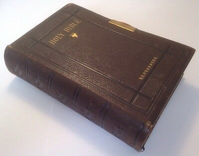 Holy Bible, King James Version, References, C1871, Eyre & Spottiswoode, Clasp • 124.99£