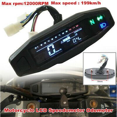 $41.59 • Buy Motorcycle Bikes LCD Speedometer Digital Odemeter Electric Injection Carb Gauge